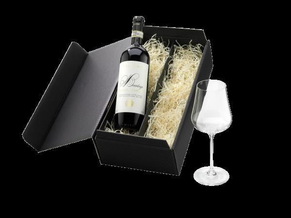 """Geschenk """"Wein und Glas"""""""